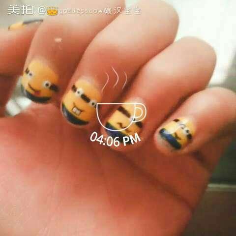 小黄人指甲