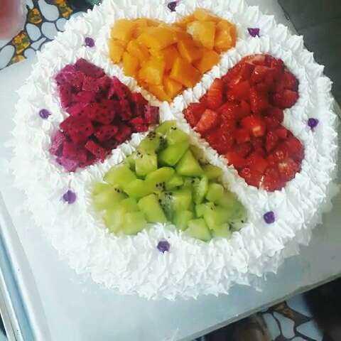 自制美食##自制生日蛋糕#昨天老公过生日图片