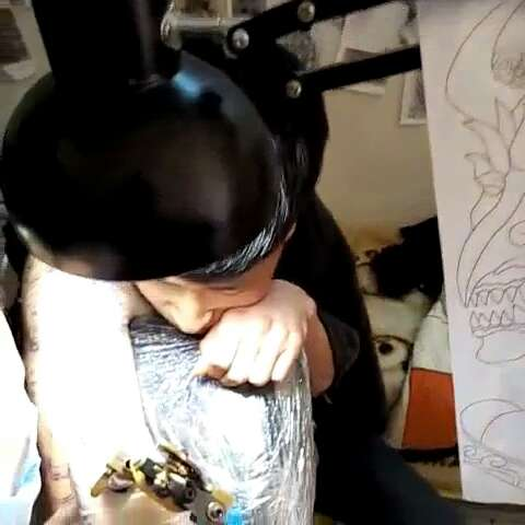 明月艺妓小臂纹身手稿_明月艺妓小臂纹身手稿分享展示图片
