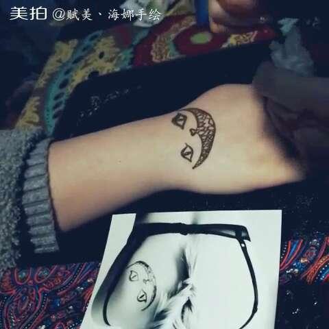 西安印度海娜手绘纹身#炫酷的笑脸图案~笑容的背后隐藏着什么呢