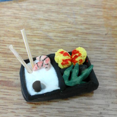 粘土手工制作图片虾