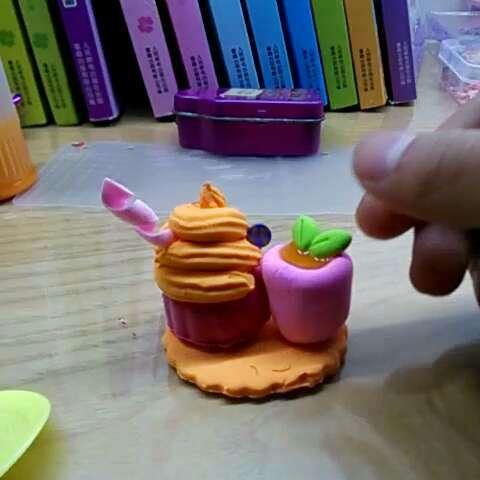 平面冰淇淋##超轻粘土手工大赛##超轻粘土制作#不喜