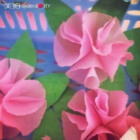 手工制作##手工折纸花#小时候的大红花如今都变样了