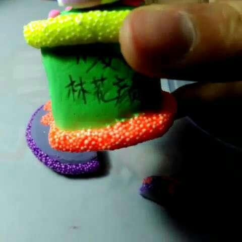 珍珠蛋糕90#超轻粘土##粘土教程##粘土女孩赞出来