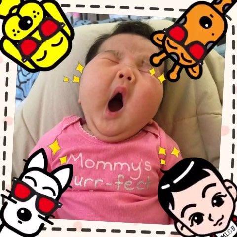 宝宝##萌宝宝##宝宝成长日记##宝宝打瞌睡#!小菲比60天了!