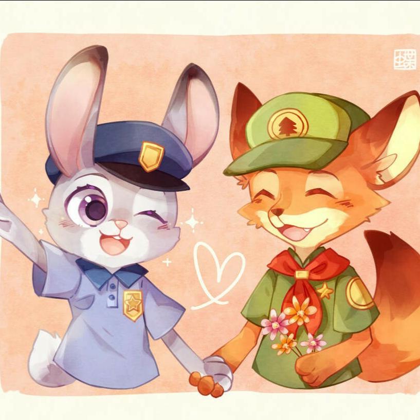 狐兔cp##疯狂动物城##兔子朱迪##尼克图片