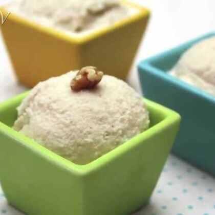 好吃又健康的核桃冰淇淋,make it by yourself😊☺😍#DIY##核桃冰淇淋##时尚美食#