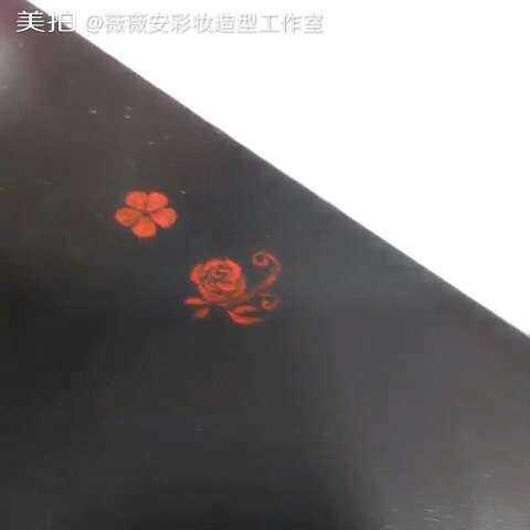 美甲彩绘教学基础篇之五瓣花、玫瑰花#美甲教学双流星锤技法图片