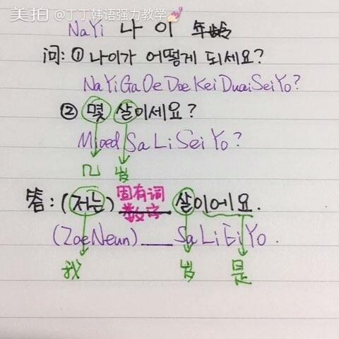 『丁丁教你说韩语』如何问对方的年龄?又怎样