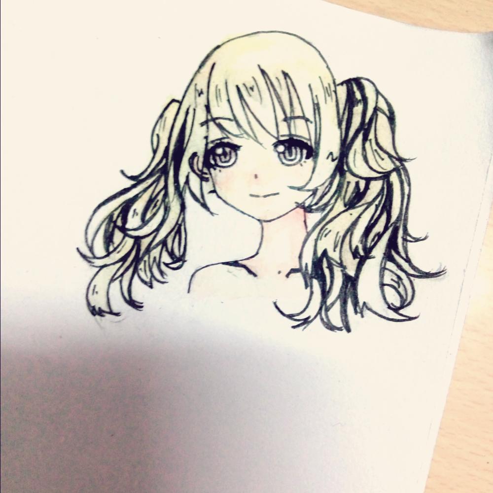 07-07 21:18     #随手画# #手绘水彩画# #二次元