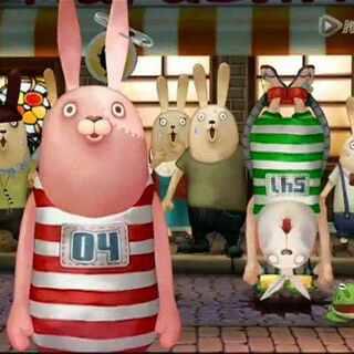#逃亡兔##动画片##疯狂的兔子##越狱兔#哈哈,这两集放在一起很精彩。