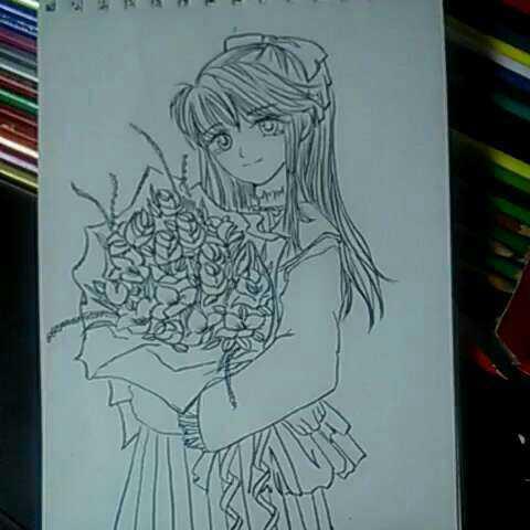 女生动漫画图片大全铅笔_简单的动漫画画图片