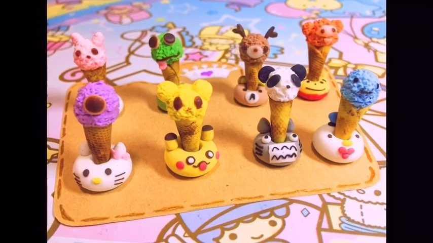粘土做的各种小动物图片
