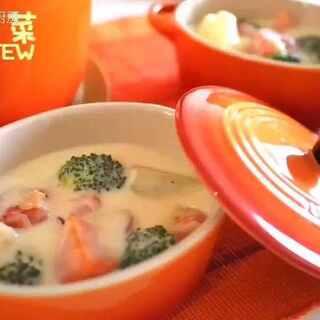 【深夜食堂】零失败的日式奶油炖菜 食材都可以买得到,若无高汤粉可用鸡精代替 #开开的厨房##C'sKitchen##美食##恋上创意美食#
