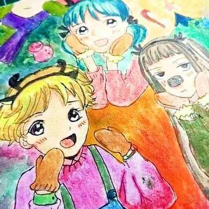 兰兰 水粉画