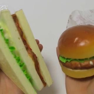 #宝宝##玩具介绍##直播玩玩具##玩具#日本#发泄玩具#三文治&汉堡包😃