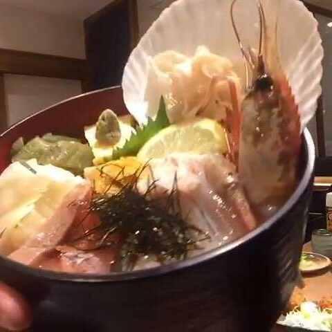 #美食##吃秀##东京##海鲜饭##日本料理##模板容视频深海图片