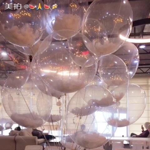 #手工#超美的飘空波波视频-视频手工-的美拍强轩案气球图片