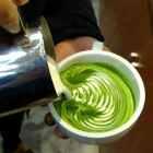一大杯抹茶拿铁,#手工##美食##我要上钱柜手机版客户端#@三叶咖啡__强