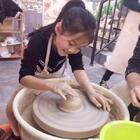 第一次自己做陶碗#宝宝##手工#魏艺萱