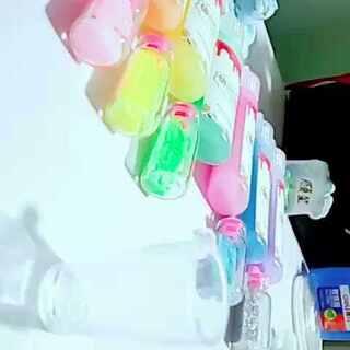 #手工##自制彩虹瓶##杯子还能这样玩#和你一起看彩虹😉