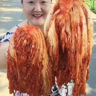 #吃秀##自制辣白菜##辣白菜#