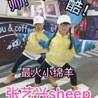 (六岁十一个月)姐妹俩凑热闹#有戏#最火#张艺兴sheep舞#,三个字:帅酷火??