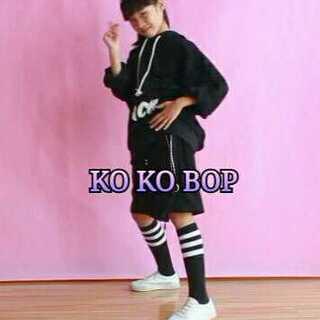 录了一个单人版的#kokobop#,锦萱是看@Desperados-甜甜💞 老师的教学视频学的,甜甜老师的教学视频非常棒,很生动,锦萱特别喜欢😊 朋友们多多点赞和转发哦😊#ko ko bop##舞蹈#感觉黑色那身穿着还蛮帅的😃😃