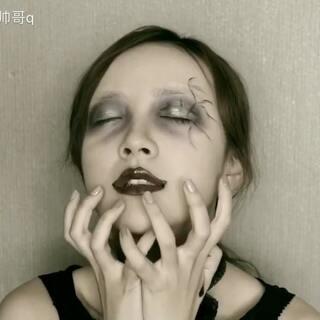 万圣节妆容 你们答应我一定要看到最后 因为我是一个幼稚鬼😜#万圣变妆趴##万圣节##美妆#