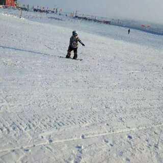 #运动##宝宝##单板滑雪#