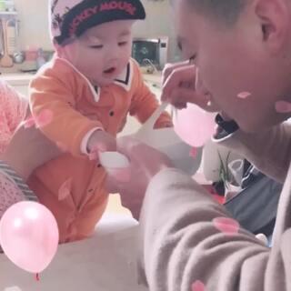 #宝宝#宝宝快要6个月 宝宝她爸快要360个月😂