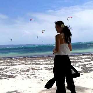 看一场风筝冲浪🏄 下回就要自己去尝试了 #运动##旅行##good#