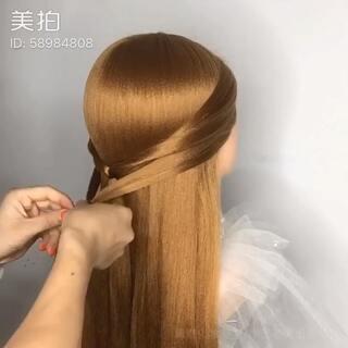 森系新娘编发##唯美新娘发型##唯美森系花仙子造型##仙气减龄新娘
