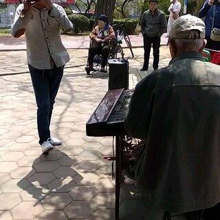 #高手在民间#在公园里听到大叔们演奏的《牧民新歌》,真好听~