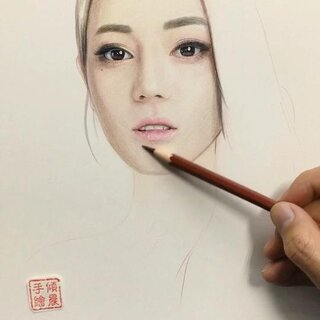 迪丽热巴##手绘##最强美拍画手